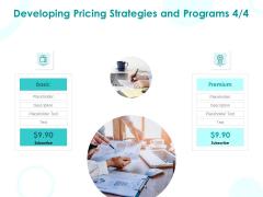 EMM Solution Developing Pricing Strategies And Programs Premium Ppt Styles Layouts PDF
