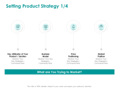 EMM Solution Setting Product Strategy Price Ppt Ideas Deck PDF