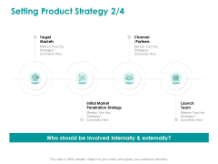 EMM Solution Setting Product Strategy Target Ppt Styles Mockup PDF