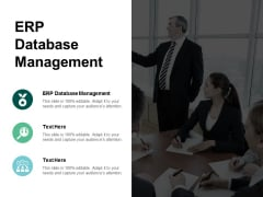 ERP Database Management Ppt PowerPoint Presentation Infographics Format Ideas Cpb