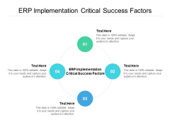 ERP Implementation Critical Success Factors Ppt PowerPoint Presentation Infographics Icon Cpb