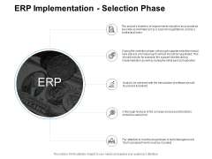 ERP Implementation Selection Phase Ppt PowerPoint Presentation Model File Formats
