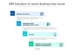 ERP Solutions To Solve Business Key Issues Ppt PowerPoint Presentation File Design Ideas PDF