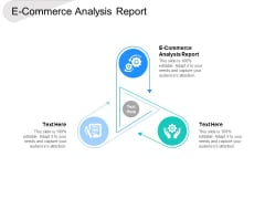 E Commerce Analysis Report Ppt PowerPoint Presentation Slides Ideas Cpb