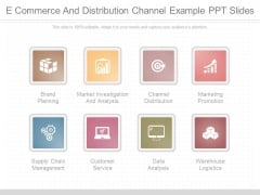 E Commerce And Distribution Channel Example Ppt Slides
