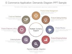 E Commerce Application Demands Diagram Ppt Sample