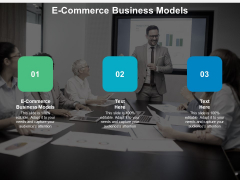 E Commerce Business Models Ppt PowerPoint Presentation Model Clipart Cpb
