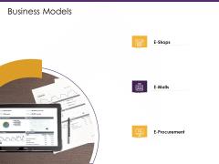 E Commerce Business Models Ppt PowerPoint Presentation Slides Outline PDF