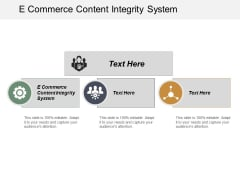 E Commerce Content Integrity System Ppt PowerPoint Presentation Summary Background Images Cpb