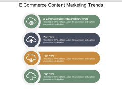 E Commerce Content Marketing Trends Ppt PowerPoint Presentation Outline Example Introduction Cpb