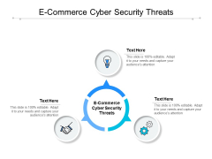 E Commerce Cyber Security Threats Ppt PowerPoint Presentation Model Maker Cpb
