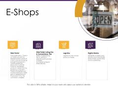 E Commerce E Shops Ppt PowerPoint Presentation Layouts Graphics PDF