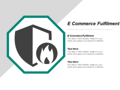 E Commerce Fulfilment Ppt PowerPoint Presentation Pictures Inspiration Cpb