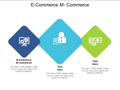 E Commerce M Commerce Ppt PowerPoint Presentation Deck Cpb