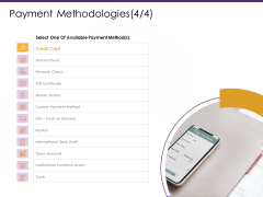 E Commerce Payment Methodologies Payment Ppt PowerPoint Presentation Gallery File Formats PDF