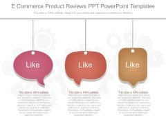 E Commerce Product Reviews Ppt Powerpoint Templates
