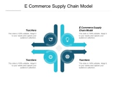 E Commerce Supply Chain Model Ppt PowerPoint Presentation Layouts Show Cpb