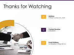 E Commerce Thanks For Watching Ppt PowerPoint Presentation Summary Graphics Example PDF