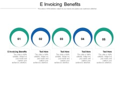 E Invoicing Benefits Ppt PowerPoint Presentation Infographic Template Inspiration Cpb Pdf