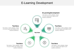 E Learning Development Ppt PowerPoint Presentation Outline Maker Cpb