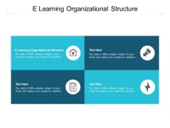 E Learning Organizational Structure Ppt PowerPoint Presentation Professional Template Cpb