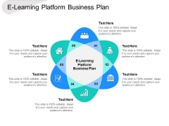 E Learning Platform Business Plan Ppt PowerPoint Presentation Outline Background Images Cpb