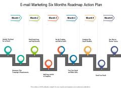 E Mail Marketing Six Months Roadmap Action Plan Information