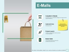 E Malls Mobile Wallet Ppt PowerPoint Presentation Summary Good