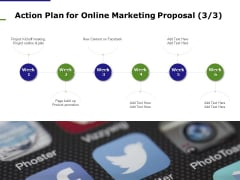 E Marketing Action Plan For Online Marketing Proposal Ppt File Graphics Pictures PDF