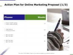 E Marketing Action Plan For Online Marketing Proposal Product Ppt Outline Gridlines PDF