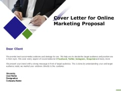 E Marketing Cover Letter For Online Marketing Proposal Ppt Influencers PDF