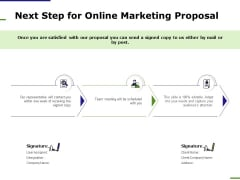 E Marketing Next Step For Online Marketing Proposal Ppt Layouts Template PDF