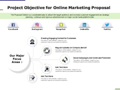 E Marketing Project Objective For Online Marketing Proposal Ppt Professional Background Designs PDF