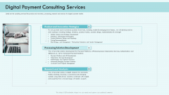 E Payment Transaction System Digital Payment Consulting Services Ppt Icon Elements PDF