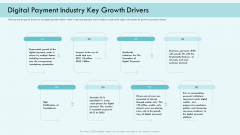 E Payment Transaction System Digital Payment Industry Key Growth Drivers Ppt Styles Icon PDF