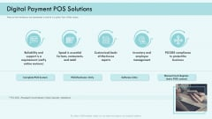 E Payment Transaction System Digital Payment POS Solutions Ppt Inspiration Guide PDF