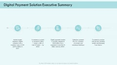 E Payment Transaction System Digital Payment Solution Executive Summary Ppt Gallery Example PDF