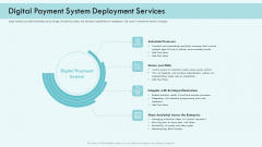 E Payment Transaction System Digital Payment System Deployment Services Ppt Icon Files PDF