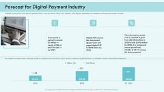 E Payment Transaction System Forecast For Digital Payment Industry Ppt Styles Infographic Template PDF
