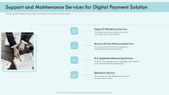 E Payment Transaction System Support And Maintenance Services For Digital Payment Solution Topics PDF
