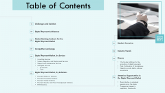 E Payment Transaction System Table Of Contents Ppt Show Brochure PDF