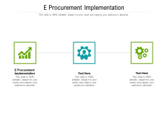 E Procurement Implementation Ppt PowerPoint Presentation Icon Summary Cpb