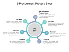 E Procurement Process Steps Ppt PowerPoint Presentation Pictures Outfit Cpb