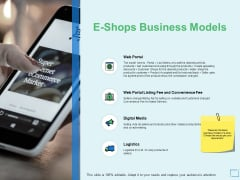 E Shops Business Models Dollar Ppt PowerPoint Presentation Summary Example