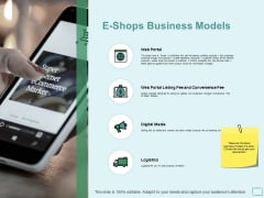 E Shops Business Models Ppt PowerPoint Presentation Layouts Sample