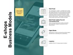 E Shops Business Models Ppt PowerPoint Presentation Portfolio Grid
