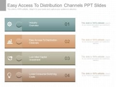 Easy Access To Distribution Channels Ppt Slides