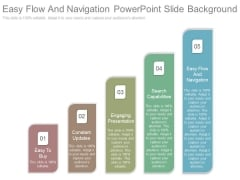 Easy Flow And Navigation Powerpoint Slide Background