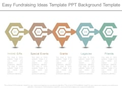 Easy Fundraising Ideas Template Ppt Background Template