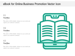 Ebook For Online Business Promotion Vector Icon Ppt PowerPoint Presentation File Designs Download PDF